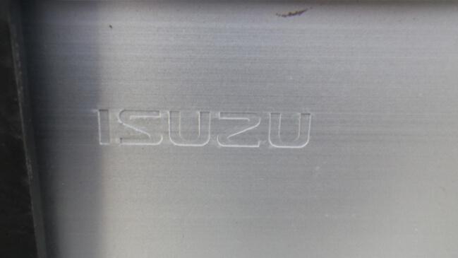 いすゞ 純正ギガ用 アルミリアバンパー E4W ステー付4