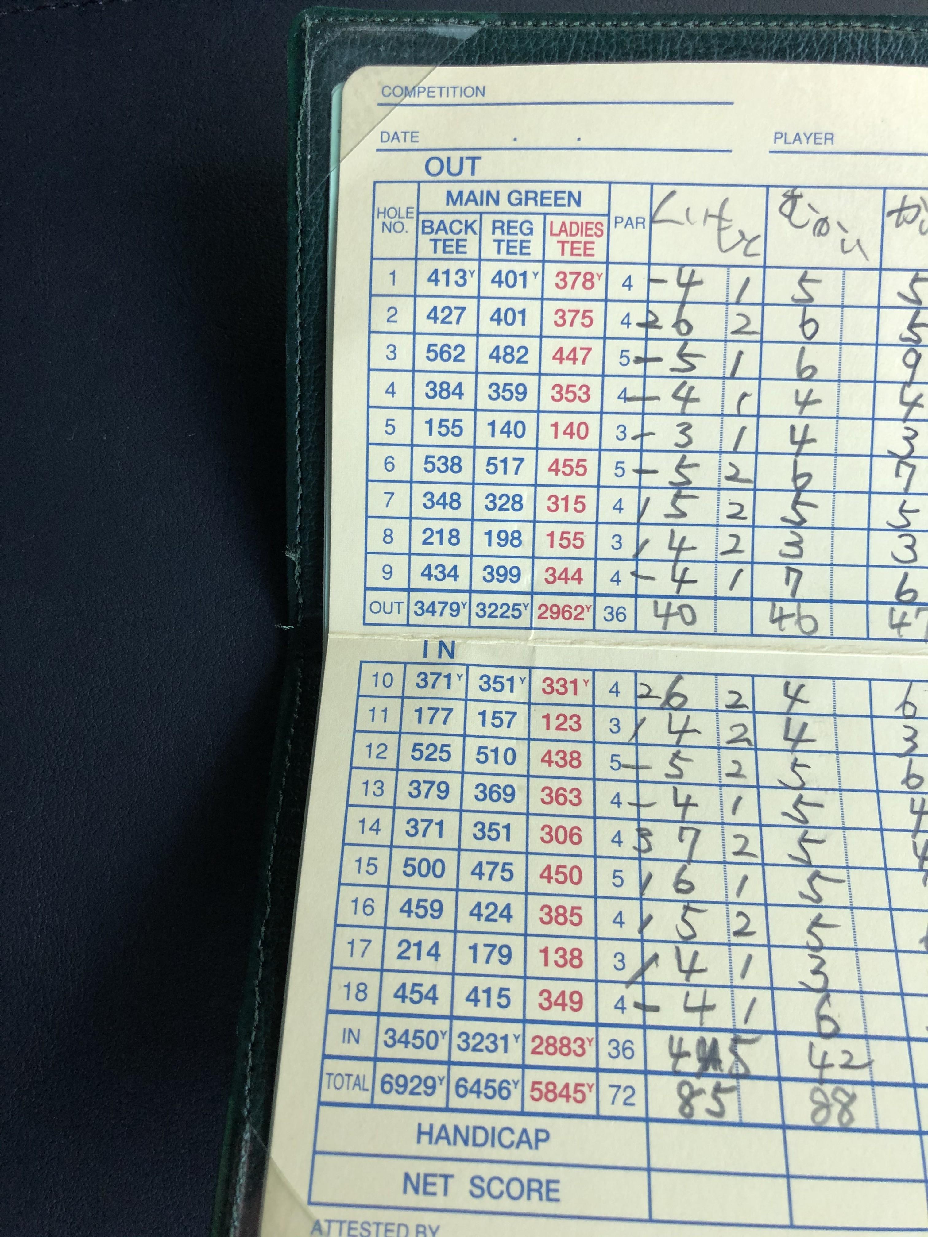 ゴルフ奮闘記
