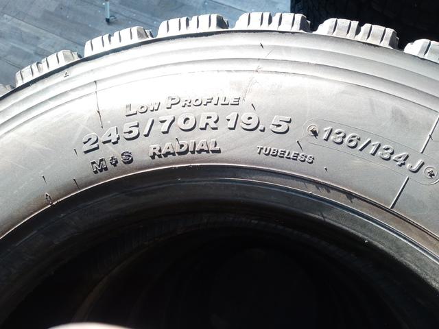 スタッドレスタイヤ お買得 格安スタッドレスタイヤ 245/70R19.5 12本セット15