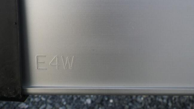 いすゞ 純正ギガ用 アルミリアバンパー E4W ステー付3