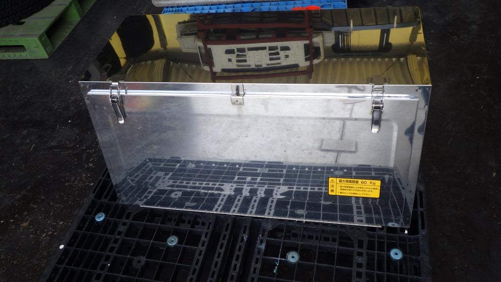 鏡面 メッキ 工具箱 幅 900mm トラック用工具箱1