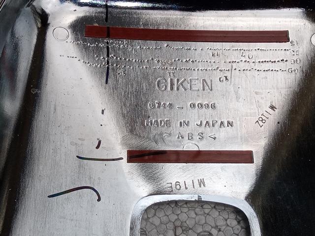 いすゞ ギガ 純正メッキミラーカバー小2