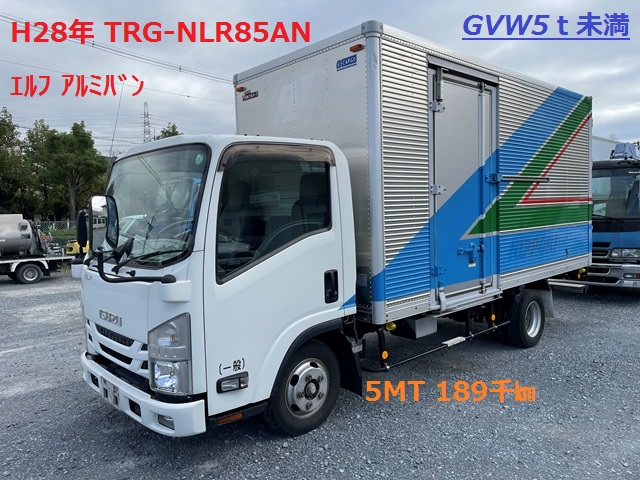 H28年 TRG-NLR85AN いすゞ エルフ アルミバン 5MT 189千㎞1